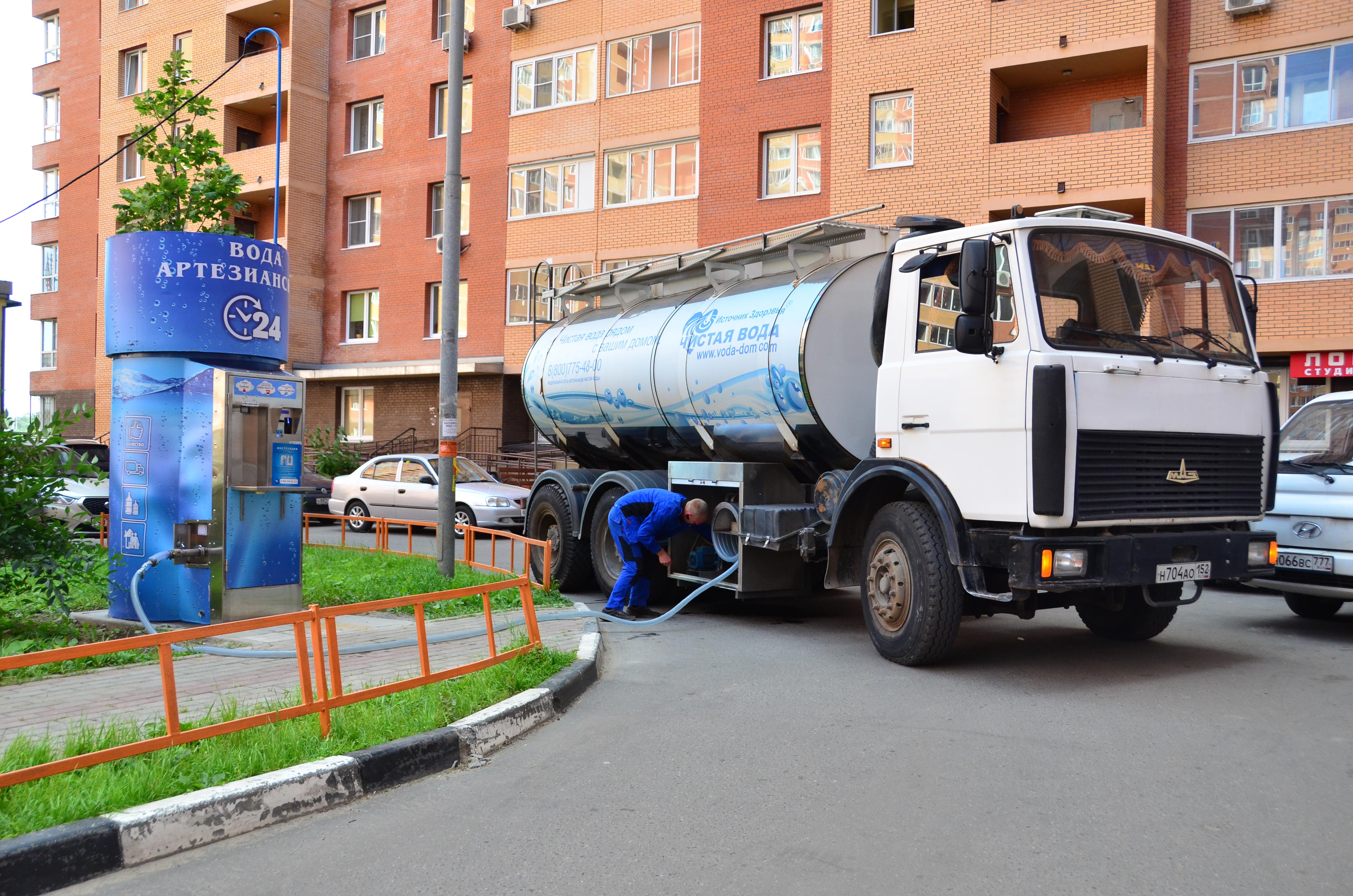 автоцистерна для перевозки питьевой воды